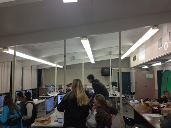 Mirador staff working hard on this weeks issue! ht...