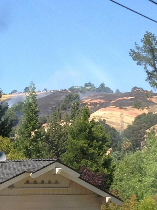 View of burnt hills from Coral Drive. Approximatel...