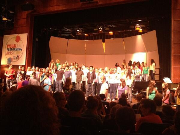 Miramonte choir students perform in their annual P...