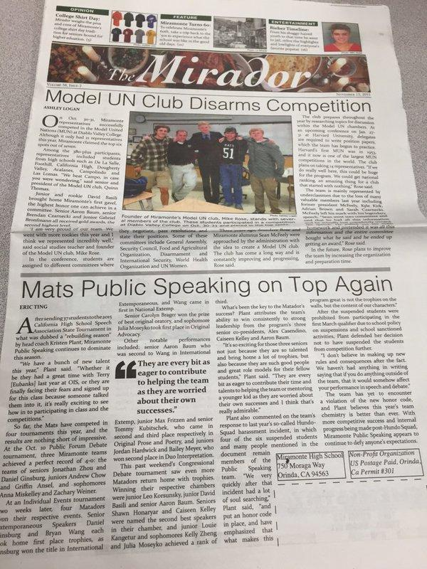 This issue features @MHSPub and @MatsModelUN on th...