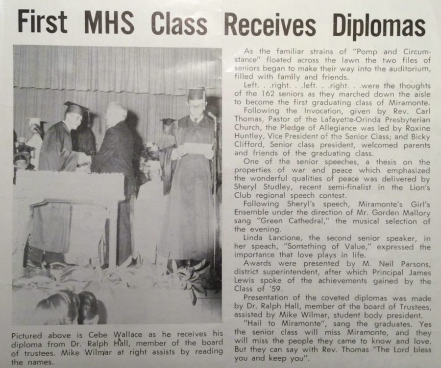 The First Graduating Class of Miramonte